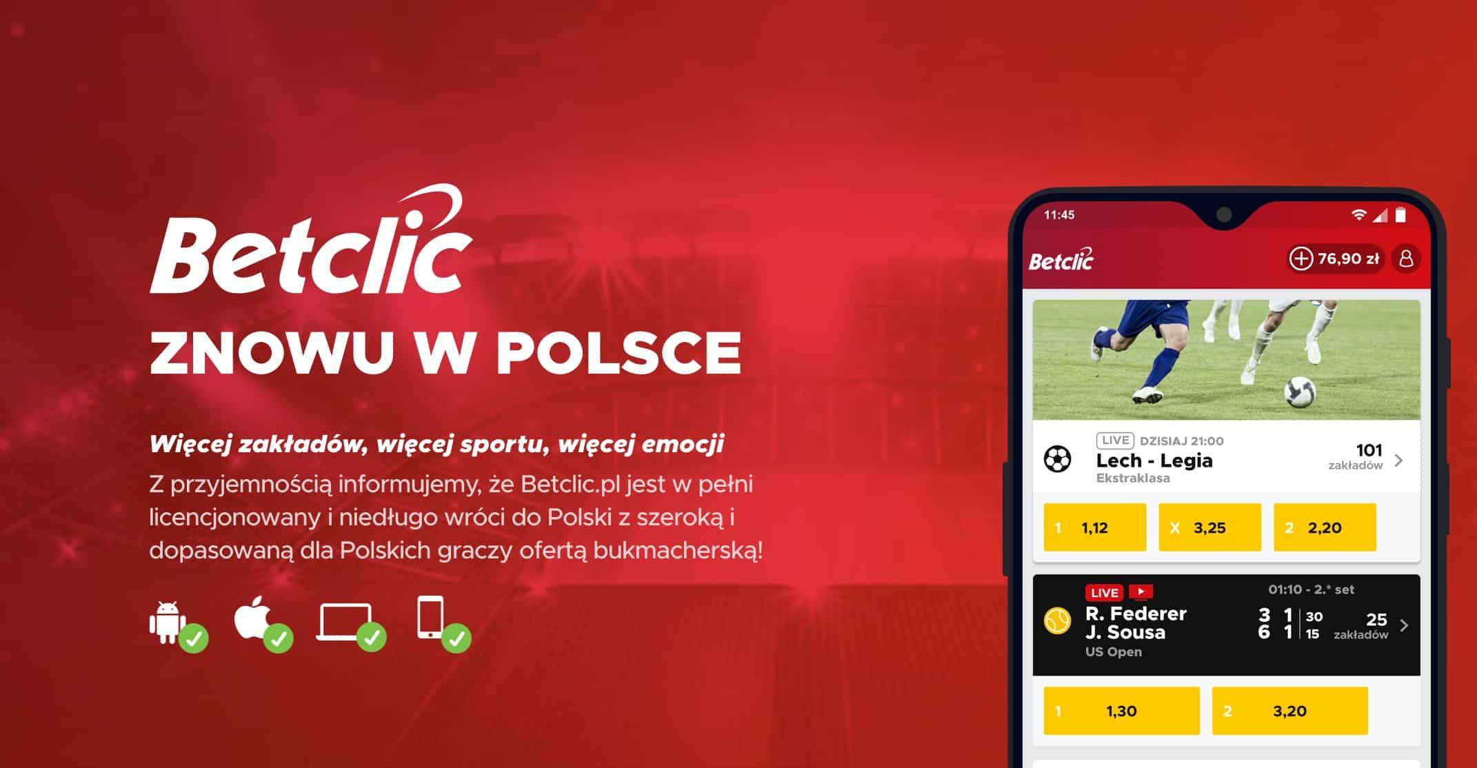 BetClic rejestracja w Polsce
