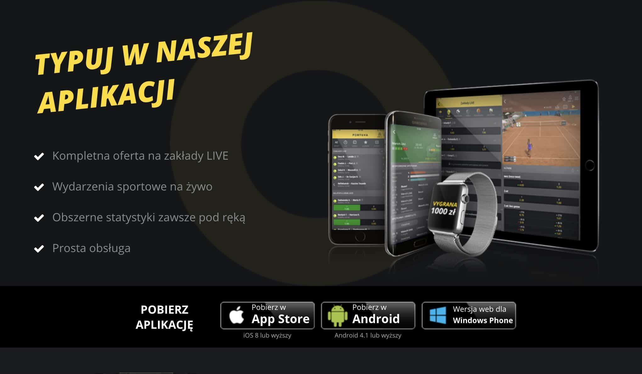 Fortuna aplikacja mobilna. Jakie opinie graczy?