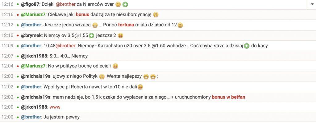 Czat bukmacherski online