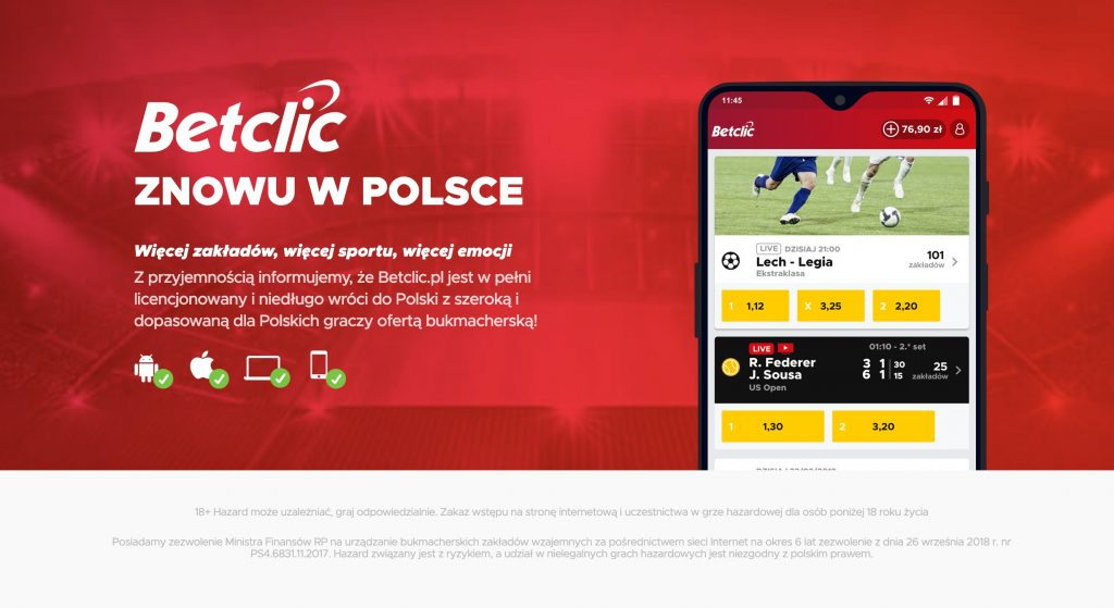 Bonus powitalny BetClic Polska. Co otrzymam na start?